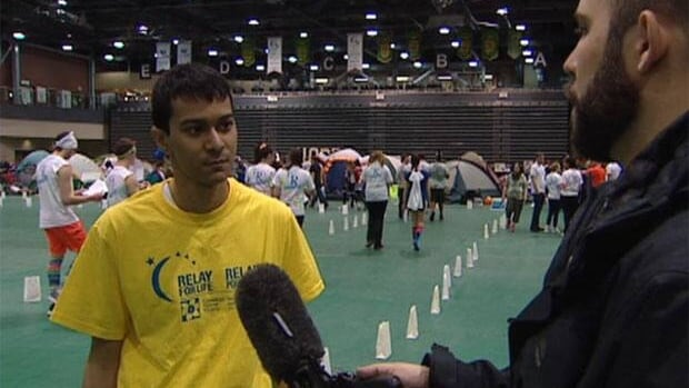 Bobby Singh,20, participated in the Relay for Life fundaiser at the University of Regina as a cancer survivor. His leukemia went into remission in August, 2010.