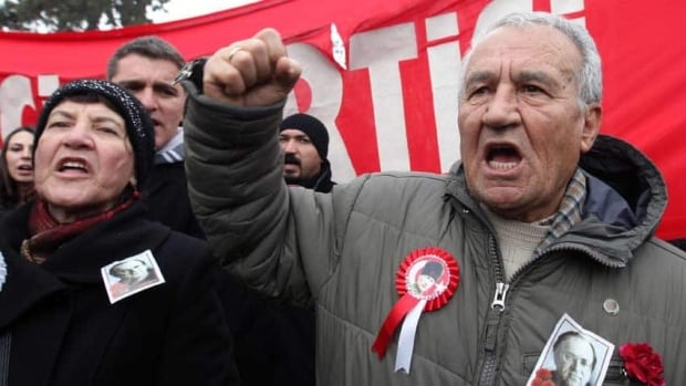 Turks demonstrate outside the French Embassy in Ankara in January 2012. Relations between Turkey and France turned cold when a bill was passed making illegal to deny the Armenian genocide. The bill was later ruled unconstitutional.