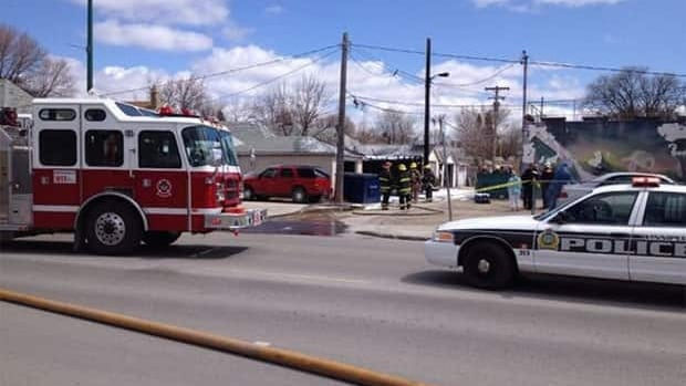The scene at the latest of a string of garage fires in Winnipeg.