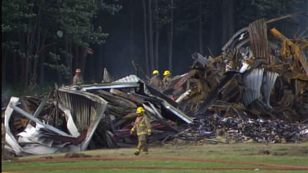 The identities of two women found in the rubble after the fire have not been released.