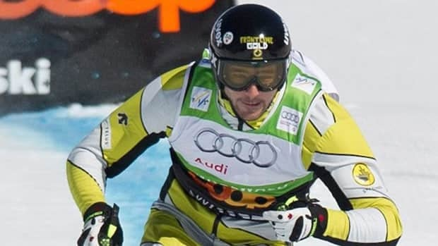 Canada's Nick Zoricic, top, speeds down the skicross course in Grindelwald Switzerland.