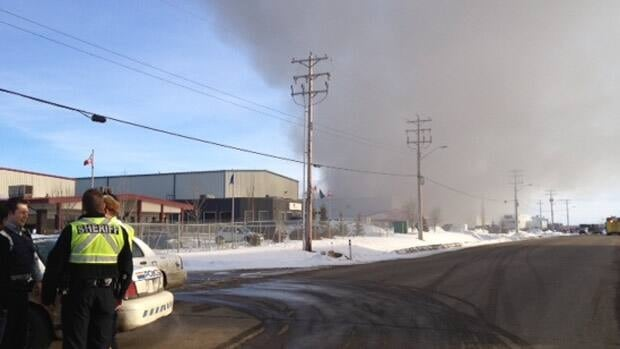 Crews were called to a fire at Global Fusions Coating in Leduc on Thursday afternoon.