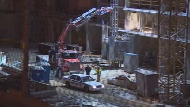 The accident happened at the old Citadel Inn site, where the new hotel is under construction.