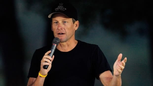 In this Oct. 2012 file photo, Lance Armstrong addresses participants at the Livestrong Challenge Ride in Austin, Texas.