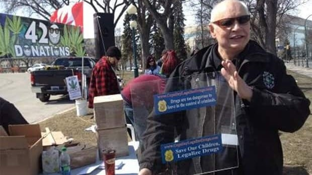 Former Winnipeg police Staff Sgt. Bill Van der Graaf was at the 4-20 rally Saturday.