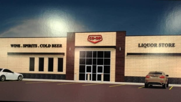 An artist's rendering of the new Saskatoon Co-Op liquor store in Blairmore.
