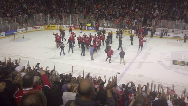 The Mooseheads only gave up one game to Baie-Comeau Drakkar, going into the final.