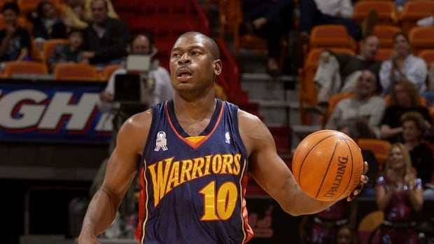 Mookie Blaylock, shown here in 2002, played 13 NBA seasons for New Jersey, Atlanta and Golden State.