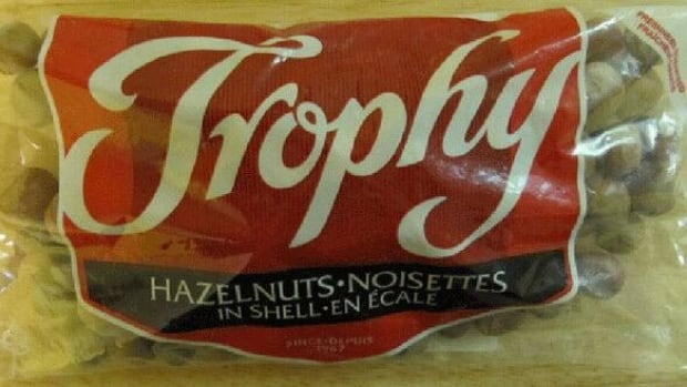The Canadian Food Inspection Agency is warning the public not to eat Trophy brand Hazelnuts In Shell because they may be contaminated with salmonella.