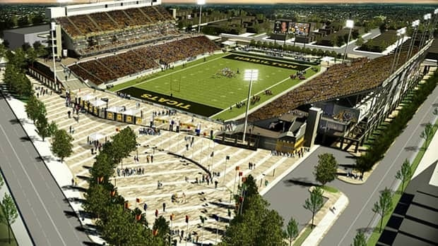Those looking to park around the new Pan Am stadium during Hamilton Tiger-Cats games should still be able to after the city implements its new lawn parking bylaw. (Cannon Group)