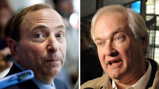 NHL commissioner Gary Bettman (left) and Donald Fehr, executive director of the NHLPA (right), announced a tentative deal early Sunday morning to end the 113-day NHL lockout.