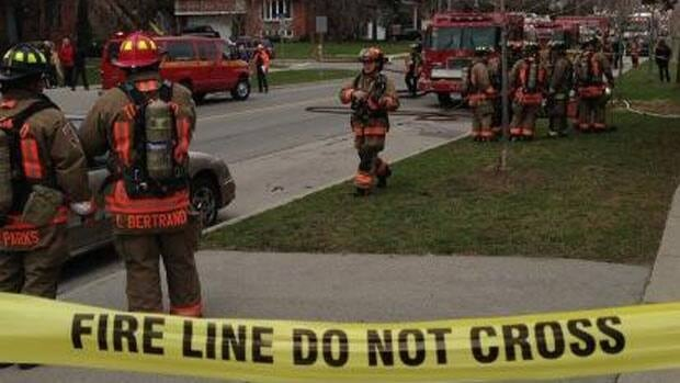 About 45 Toronto firefighters were called out to the apartment fire on Park Lawn Road.