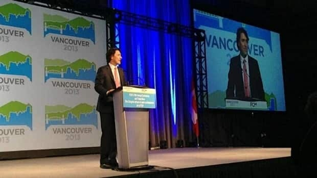 Liberal Leader Justin Trudeau told a group of municipal leaders gathered in Vancouver on Sunday that 'opening the Constitution to fix the Senate would disadvantage everybody.'