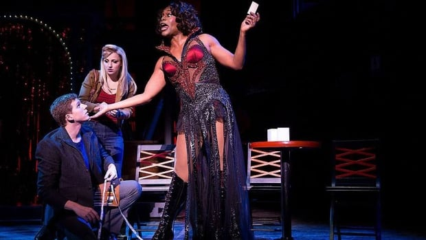 Actors, from left, Stark Sands, Annaleigh Ashford and Billy Porter are shown during a performance of Kinky Boots.