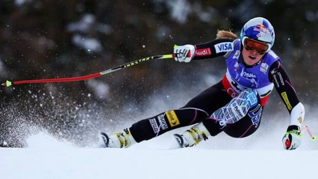 Lindsey Vonn skis Tuesday's super-G in Schladming, Austria, moments before crashing.