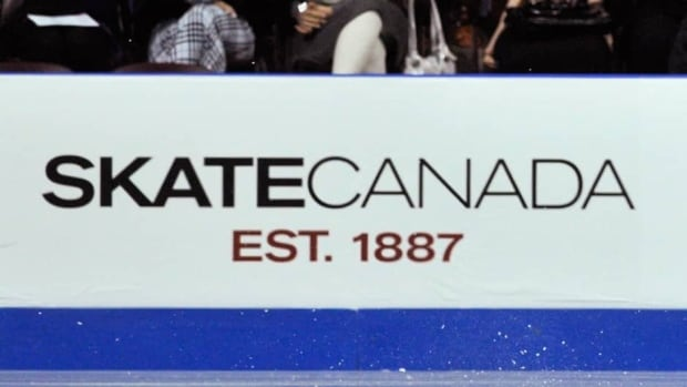 A Skate Canada sign is shown during a Skate Canada international figure skating competition in Windsor in Oct.