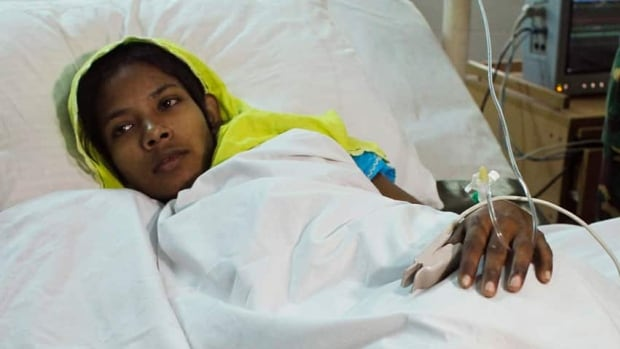 Reshma Begum, 19, recovers at Savar Combined Military Hospital in Savar after being rescued from the rubble of the Rana Plaza building 17 days after the building collapsed.
