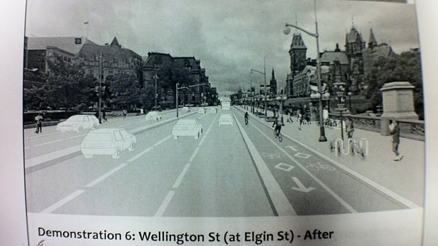 This is what Wellington Street could look like if the city moves to implement Downtown Moves.