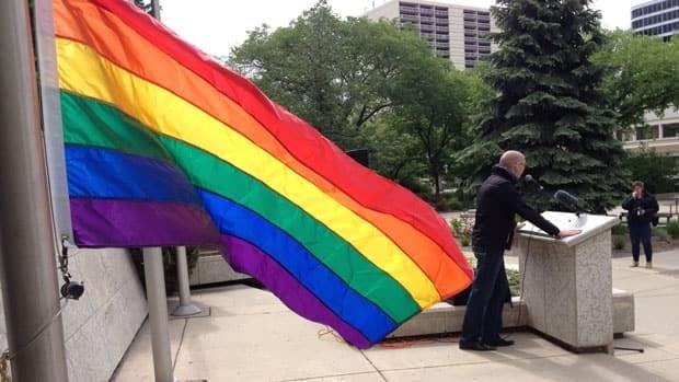 Raising the Rainbow Flag kicks off Pride week.