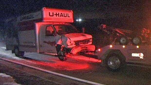 The driver of the cube van was not injured in the fatal Saturday night collision on Highway 7/8 in Kitchener, Ont., police say.