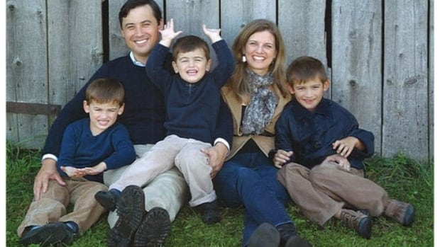 Wellington-Halton Hills MP Michael Chong poses with his wife Carrie and their three sons.  (Sylvia Galbraith/Silver Creek Photography)