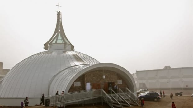 The new St. Jude's Cathedral in Iqaluit opened in 2012. The original church was destroyed by a deliberately-set fire in 2005. (Vincent Desrosiers/CBC)