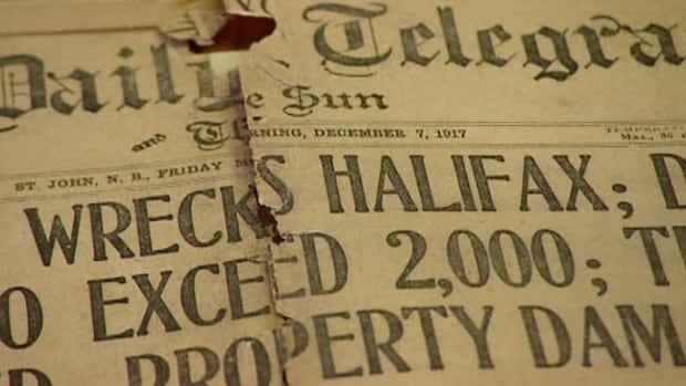A report on the Halifax Explosion in 1917.