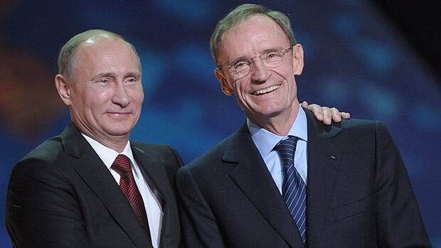 Jean-Claude Killy, former Olympian and IOC official, appeared with Russian president Vladimir Puti at a Sochi Games ceremony last month.