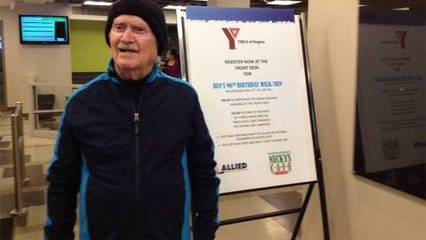 Ben Grotsky, 90, still runs six times a week. The YMCA in Regina holding a fundraiser to celebrate his dedication.