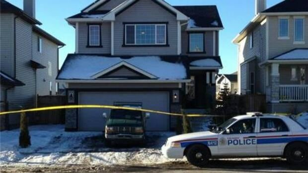 The Calgary police homicide unit is investigating a serious assault at this home in Royal Oak. A man in his 60s is in hospital in life-threatening condition.