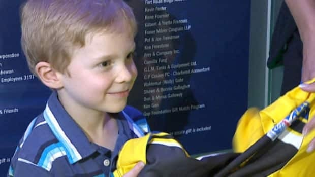 Nathan Marsh, 6, single-handedly raised nearly $2,000 for the Alberta Cancer Foundation.