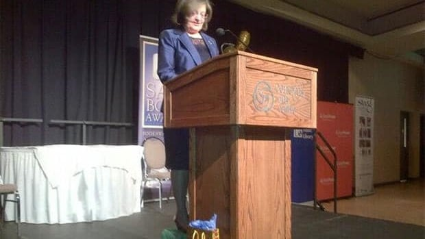 Award-winning author Sharon Butala was the keynote speaker at the 2013 Saskatchewan Book Awards.