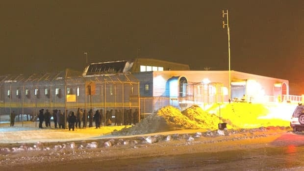 The Baffin Correctional Centre in Iqaluit. In 2012, the building was cited for more than 40 fire code 'deficiencies', including blocked fire exits and malfunctioning fire extinguishers. A report released this week found conditions at the jail 'appalling' and called for it to be closed.