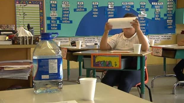 Classrooms full of students at Rosemont's Pierre Elliott Trudeau elementary school were given water and cups to deal with the boil water advisory.