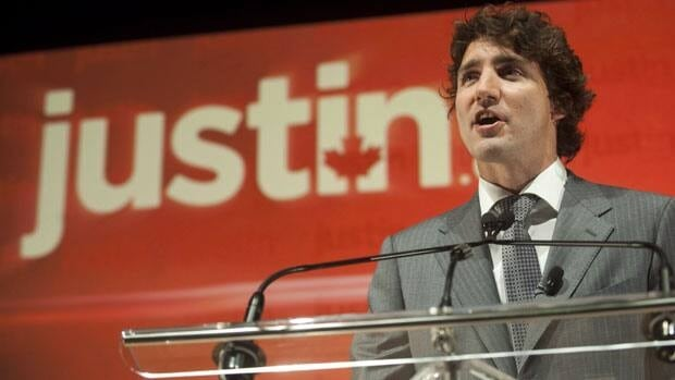Liberal MP Justin Trudeau, seen at his leadership announcement in Montreal last October, is one of nine candidates set to face off in a debate this weekend.