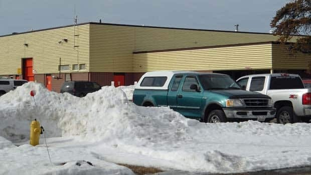 Snow remains piled up around the Fire Management Headquarters in Thunder Bay.