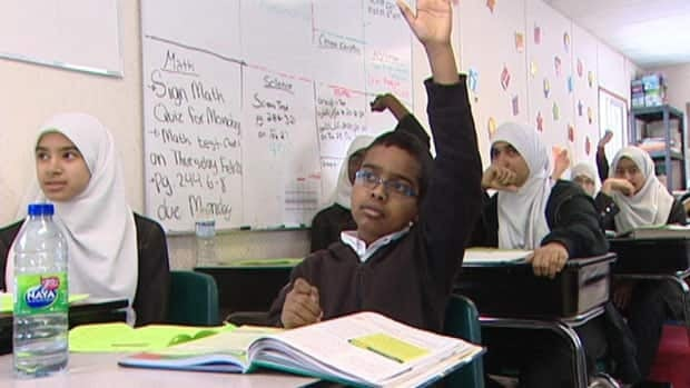 Students at Regina Huda School are taught the Saskatchewan curriculum including math, science, language arts. They also learn about Arabic and Islam.