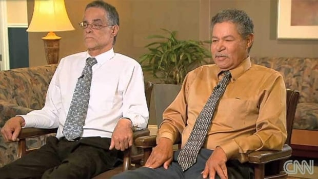 Brothers Onil Castro, left, and Pedro Castro told CNN Monday that they want the freed women to know how sorry they are for the ordeal they suffered. Their brother Ariel has been accused of kidnap and rape in the case.