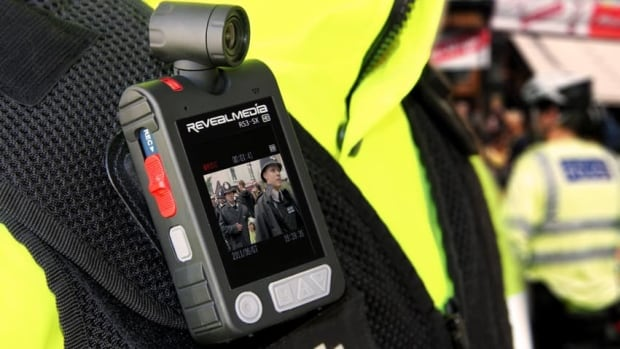The RS3-SX body worn video camera by Reveal Media has been used in trial studies in Edmonton, Alta. and Amherstburg, Ont.