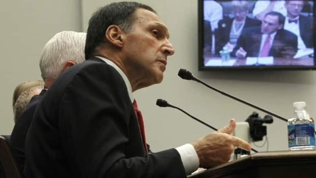 Richard Fuld of Lehman Brothers was among corporate America's 25 highest-paid CEOs for eight years until his firm went belly-up in 2008. He is shown testifying before the House financial services committee in 2010.