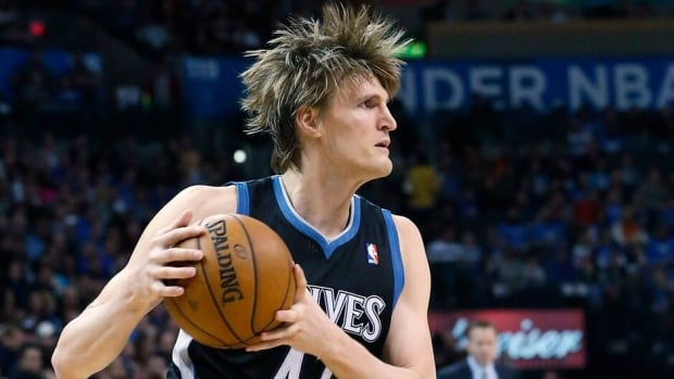 Russian forward Andrei Kirilenko, seen here as a member of the Minnesota Timberwolves, raised eyebrows earlier this summer when he decided to opt out of the final year of his lucrative contract with the T-Wolves and sign on for less money with the Brooklyn Nets.