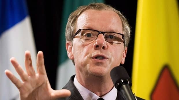 Saskatchewan Premier Brad Wall, seen at a health-care meeting in Toronto in June, told U.S. legislators on Monday that Canadian energy is as clean as that from many American sources.
