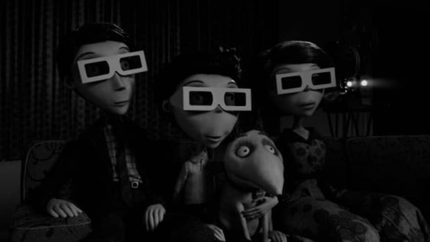 Frankenweenie is Tim Burton's black and white 3D animated film. The Art of Frankenweenie at Fan Expo displays the vision behind the film.