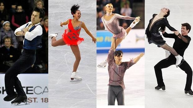 The Grand Prix Final will feature, from left, Patrick Chan, Mao Asada, Tatiana Volosozhar and Maxim Trankov, and Tessa Virtue and Scott Moir.