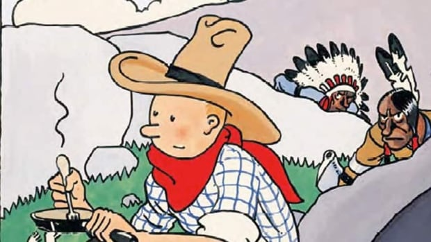 Tintin in America, first published in the 1930s, has been pulled from Winnipeg Public Library shelves pending review.