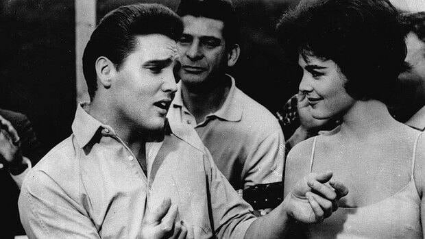 A high school production of All Shook Up, a musical featuring the songs of Elvis Presley, left, combined with a story inspired by Shakespeare's Twelfth Night will proceed with some edits after a parent complained about it being too sexual.