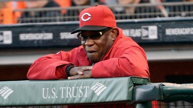 Dusty Baker, seen in a game earlier this season, won't manage until Monday at the earliest.