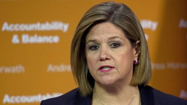 NDP leader Andrea Horwath speaks during a press conference regarding the Ontario budget in Toronto on Tuesday, May 14, 2013. THE CANADIAN PRESS/Nathan Denette