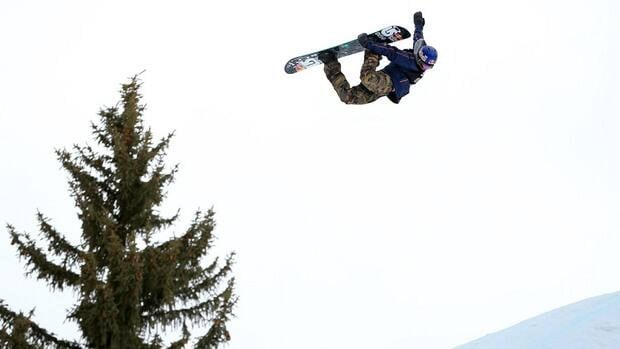 Mark McMorris of Canada soars off a jump during competition at the Winter X Games in Aspen, Colorado on Saturday.