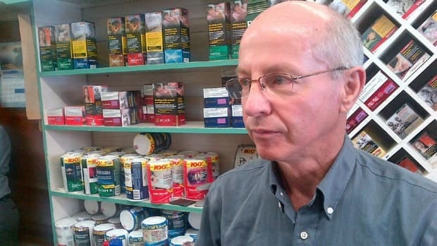 Bob Gee now has three weeks to remove his tobacco display in his store.